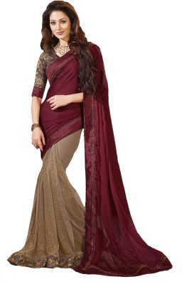 Fashion Forever Embellished Fashion Net, Chiffon Sari