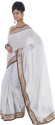 Vikrant Collections Plain Bollywood Jute Sari
