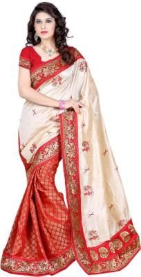 SayShopp Embriodered Fashion Silk Wool Blend Sari