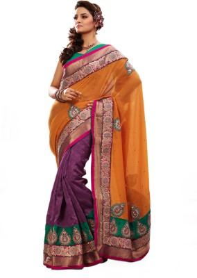 Adde Embellished Bhagalpuri Jacquard, Silk, Linen, Jute Sari