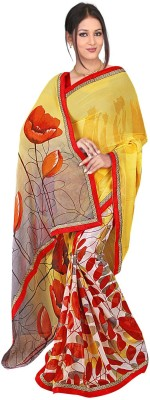 Janya Self Design Shalu Georgette Sari