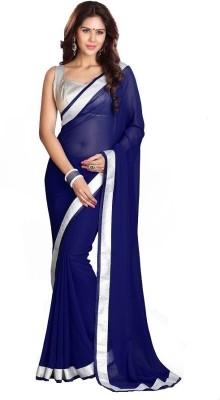 The Core Fashion Plain Fashion Organza Sari