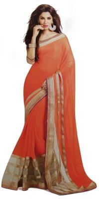 Krishna Creation Solid Bollywood Chiffon Sari