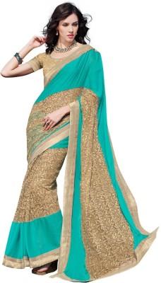 DesiButik Embriodered Fashion Chiffon, Net Sari