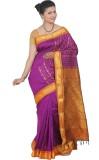 Tusk Printed Kanjivaram Silk Saree (Pink...