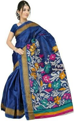Sarees House Printed Bhagalpuri Silk Cotton Blend Sari