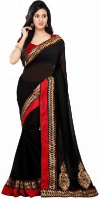 Shree Sanskruti Self Design Bollywood Handloom Georgette Sari