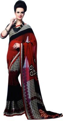Shanti Prints Geometric Print Bollywood Georgette Sari