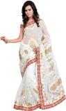 Khazana Embroidered Fashion Net Saree (W...