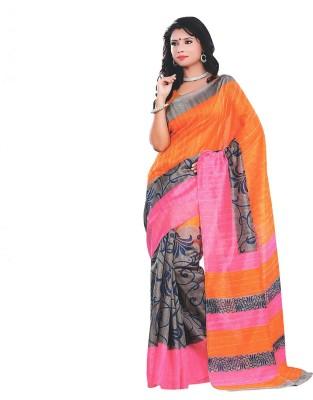 Rishiraj Printed Bhagalpuri Art Silk Sari