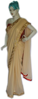 Vincy Plain Bollywood Shimmer Fabric Sari