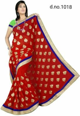 Radhe Fashion Embriodered Bollywood Handloom Cotton Sari