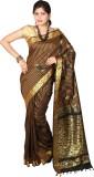JCN Self Design Mysore Cotton Saree (Bla...