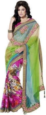 MahotsavSarees Embriodered Fashion Chiffon Sari