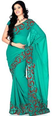 Vatsla Embriodered Fashion Georgette Sari