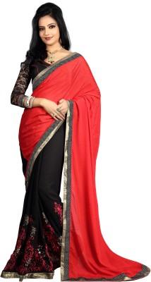 Greenvilla Designs Embriodered Fashion Silk Sari