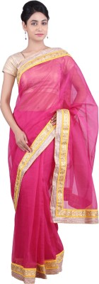 Geroo Embellished Fashion Kota, Cotton Sari