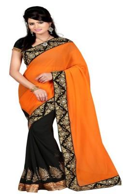 HIRA CREATION Self Design Fashion Georgette Sari