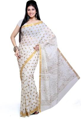 Ishin Self Design Fashion Cotton Sari
