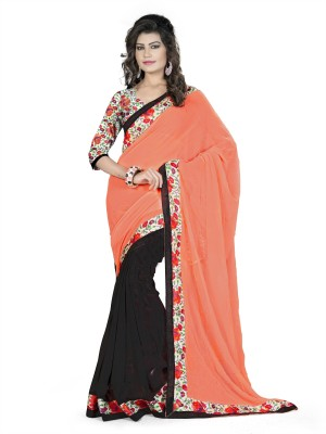 Aashvi Creation Floral Print Fashion Georgette Sari