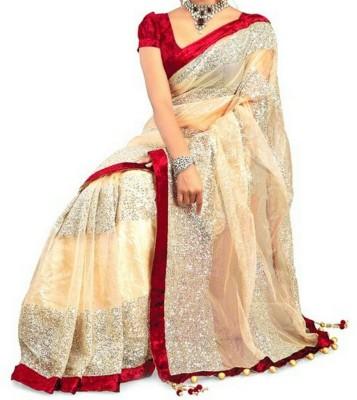 Yogi Creation Self Design Bollywood Net Sari