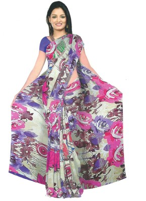 Archit Printed Daily Wear Synthetic Fabric Sari
