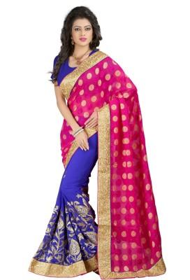 N Paraswanath Embriodered Bollywood Georgette Sari