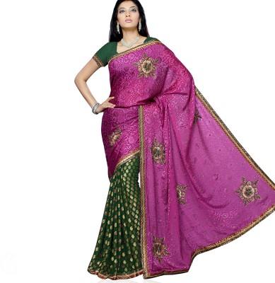 Aapno Rajasthan Self Design Fashion Brasso Sari