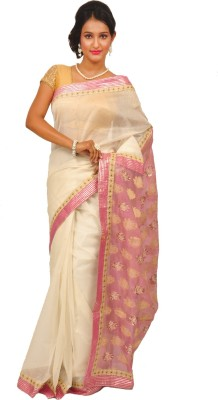 Anamika Collection Embellished Fashion Handloom Kota Cotton Sari