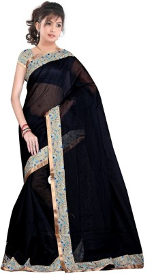 Zeven Fouten Floral Print Bollywood Georgette Sari
