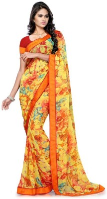 Friendlyfab Printed Fashion Chiffon Sari
