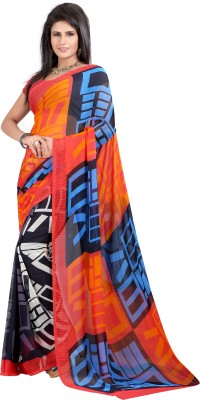 SareeShop Printed, Floral Print Fashion Georgette Sari