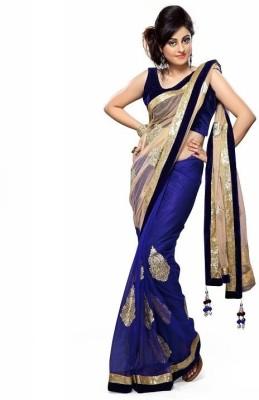 Harrow Villa Embriodered Bollywood Georgette, Net Sari