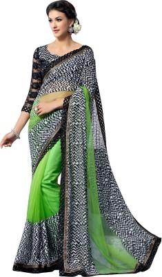 Brijraj Embellished Fashion Georgette, Net Sari