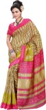 Saara Printed Fashion Cotton Saree (Beig...