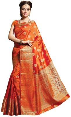 Styleworld Self Design Fashion Poly Silk Sari