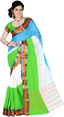 Harsh Sarees Striped Mangalagiri Cotton Sari