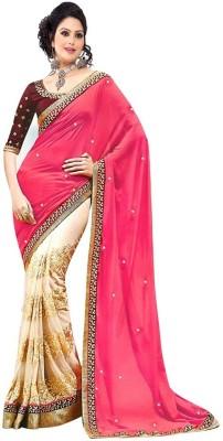 Wonder Trendz Embriodered Fashion Georgette Sari