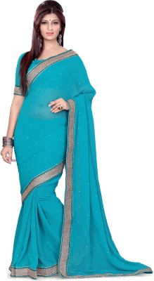 Jayanshi Plain Fashion Chiffon Sari