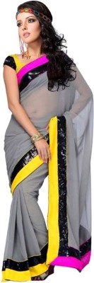 Gaps-Creation Plain Bollywood Georgette Sari