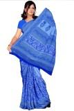 Trendz Printed Fashion Crepe Saree (Blue...