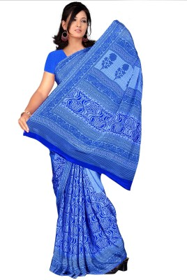 Trendz Printed Fashion Crepe Sari