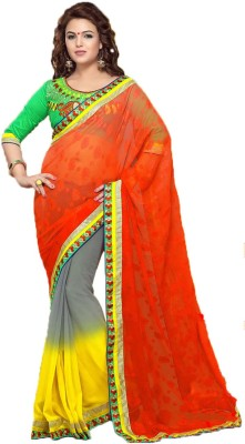 Party Wear Dresses Embriodered Fashion Net Sari