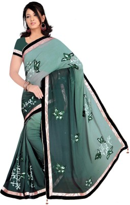 Regalia Ethnic Embriodered Fashion Pure Georgette Sari