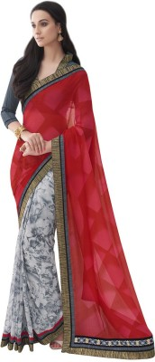 DesiButik Embriodered Fashion Georgette Sari
