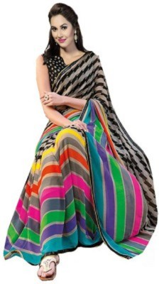 RajLaxmi Striped Fashion Cotton Slub Sari