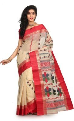 Crochetin Self Design Fashion Handloom Cotton Sari