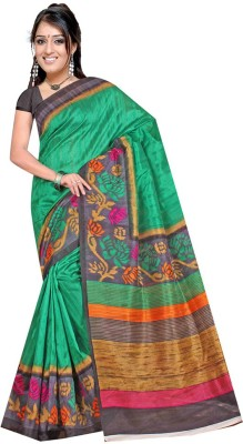 Heena Fashion Printed Bhagalpuri Silk Sari