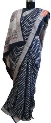 malvika exclusive Printed Daily Wear Handloom Crepe Sari