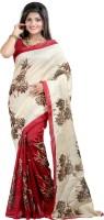 Sunita Sarees Striped Mysore Art Silk Saree(Red)